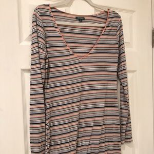 Wild Fable Deep v-neck striped dress